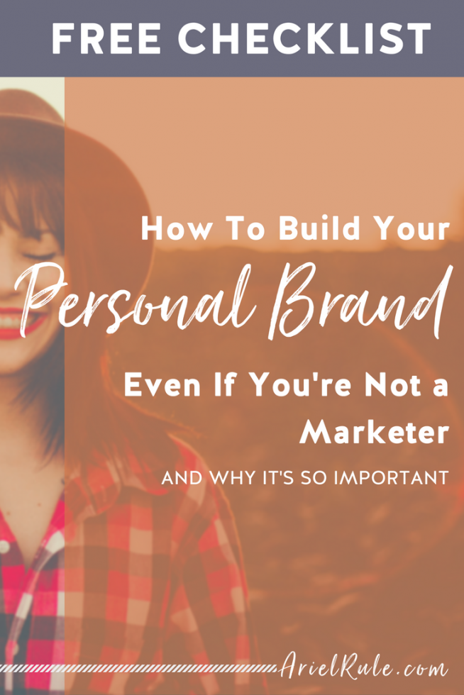 How to build your personal brand even if you're not a marketer and why it's so important
